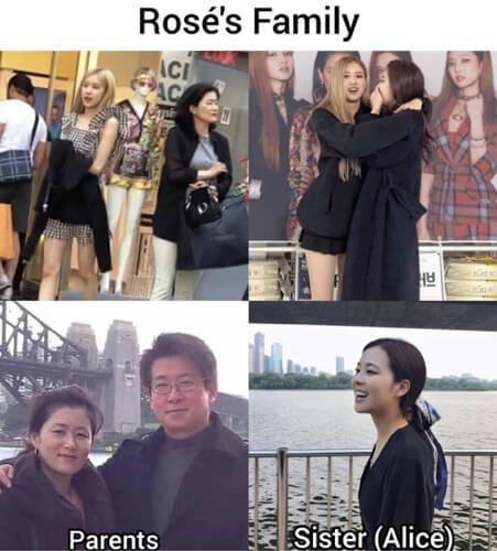 ロゼの家族写真