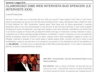 Bud Spencer e l'intervista per il fumetto di Trinità e Bambino