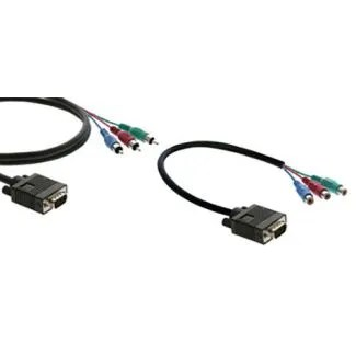 VGA 15-pin HD Male to 3-RCA Male Cable