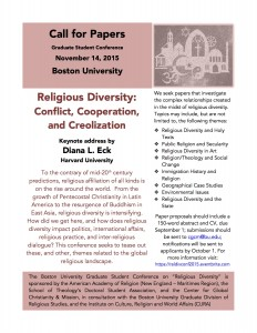 Religious Diversity Call for Papers