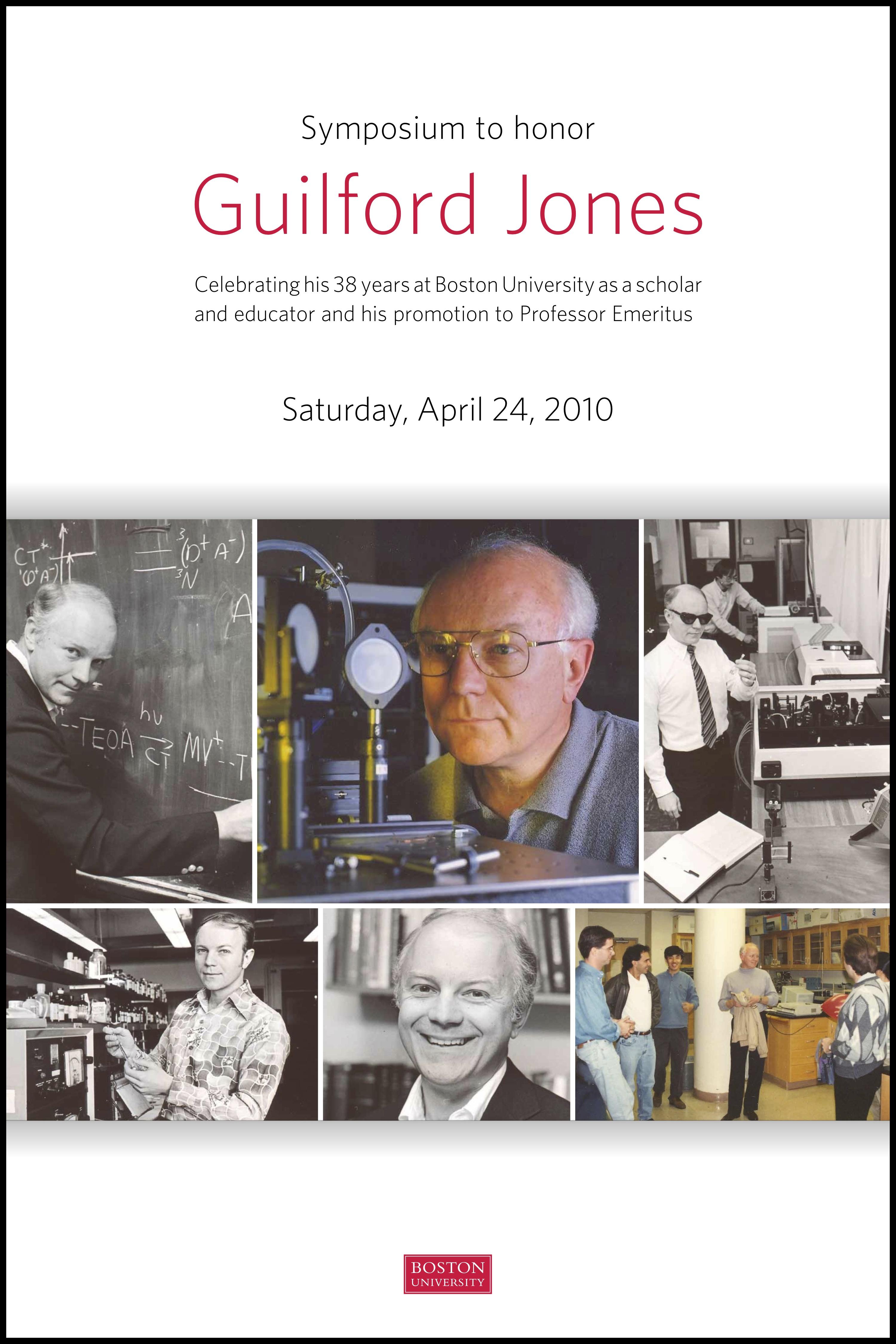 Guilford Jones Retirement Poster  Chemistry  Boston