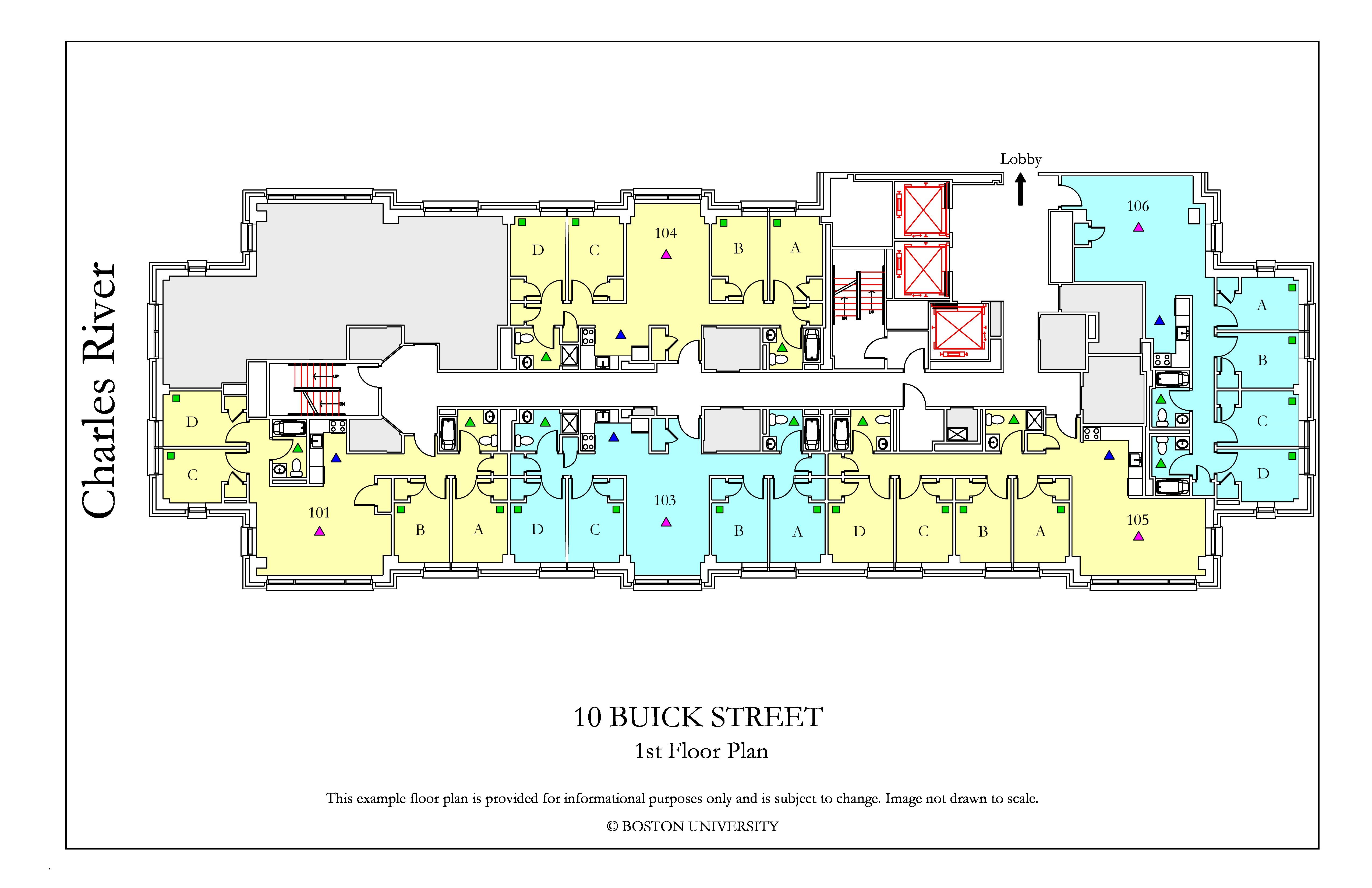 10 Buick Floor Plan  Housing  Boston University