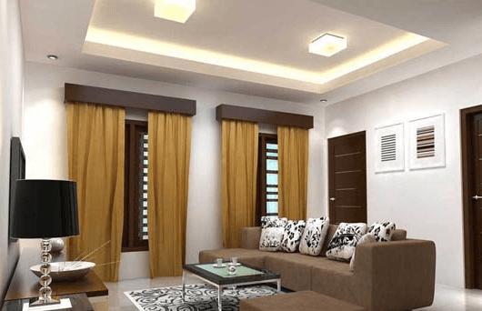 Rekomendasi Desain Plafon Gypsum Ruang Tamu Minimalis