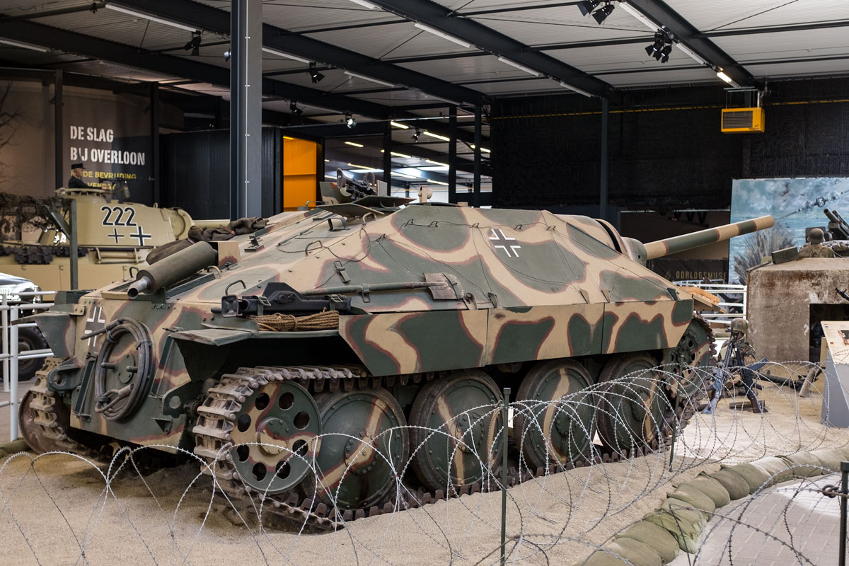 Hetzer tank destroyer at the Overloon Oorlogsmuseum in Holland