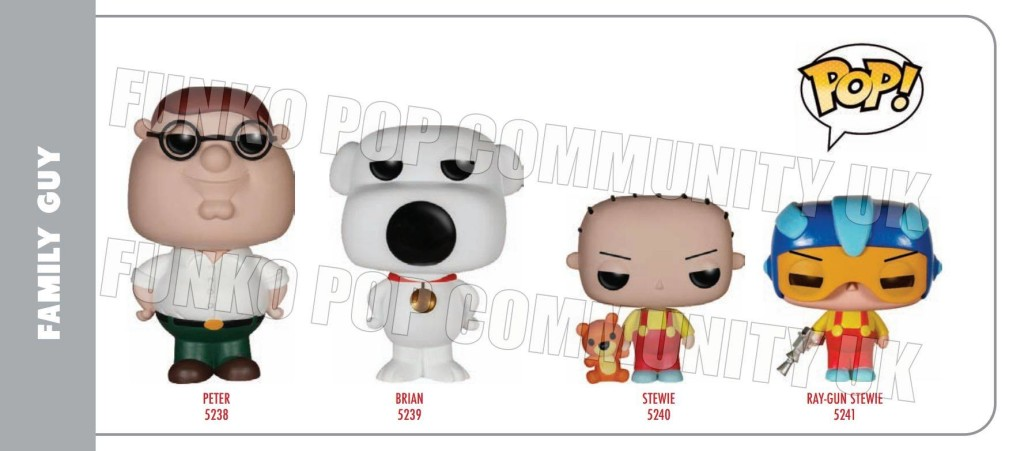 Merch Murmurs Funko Pop To Release Family Guy
