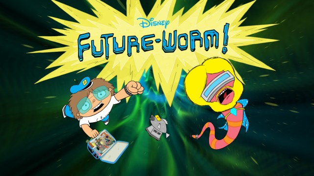 "FUTURE-WORM! - ""Future-Worm!,"" created by the Emmy Award-winning director Ryan Quincy (""South Park,"" IFC's ""Out There""), is coming to Disney XD in short-form and a newly announced full-length series beginning in fall 2015.  Quincy, who joined the Disney Television Animation team in 2013, is the executive producer. (Disney XD) TITLE CARD"