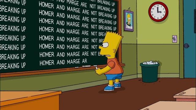 Homer & Marge Not Breaking Up