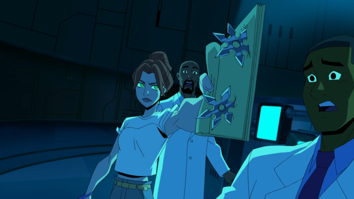 Batman-TMNT Barbara Gordon ninja stars.jpg