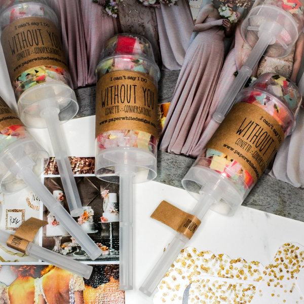 Confetti Poppers | Bridesmaids Gifts | Maid of Honor Gift | Chicago Wedding | Bridal Party Gifts | Bubbly Moments
