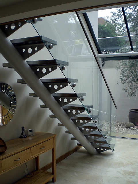 steel staircase on mono pole