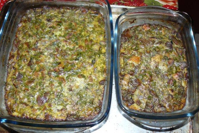 Retete Culinare - Terină de ficat şi ciuperci(drob)