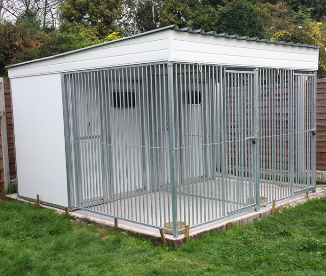 Double Grp Roofed Run Unit 3 0m Wide X 3 5m Deep 2 0m High
