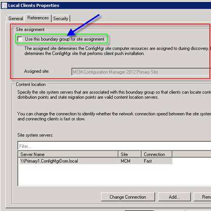 Configuration Manager did not find a site to manage this client
