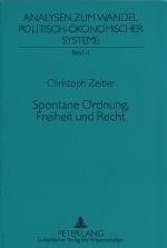 Christoph Zeitler - Spontane Ordnung, Freiheit und Recht @ buchausgabe.de