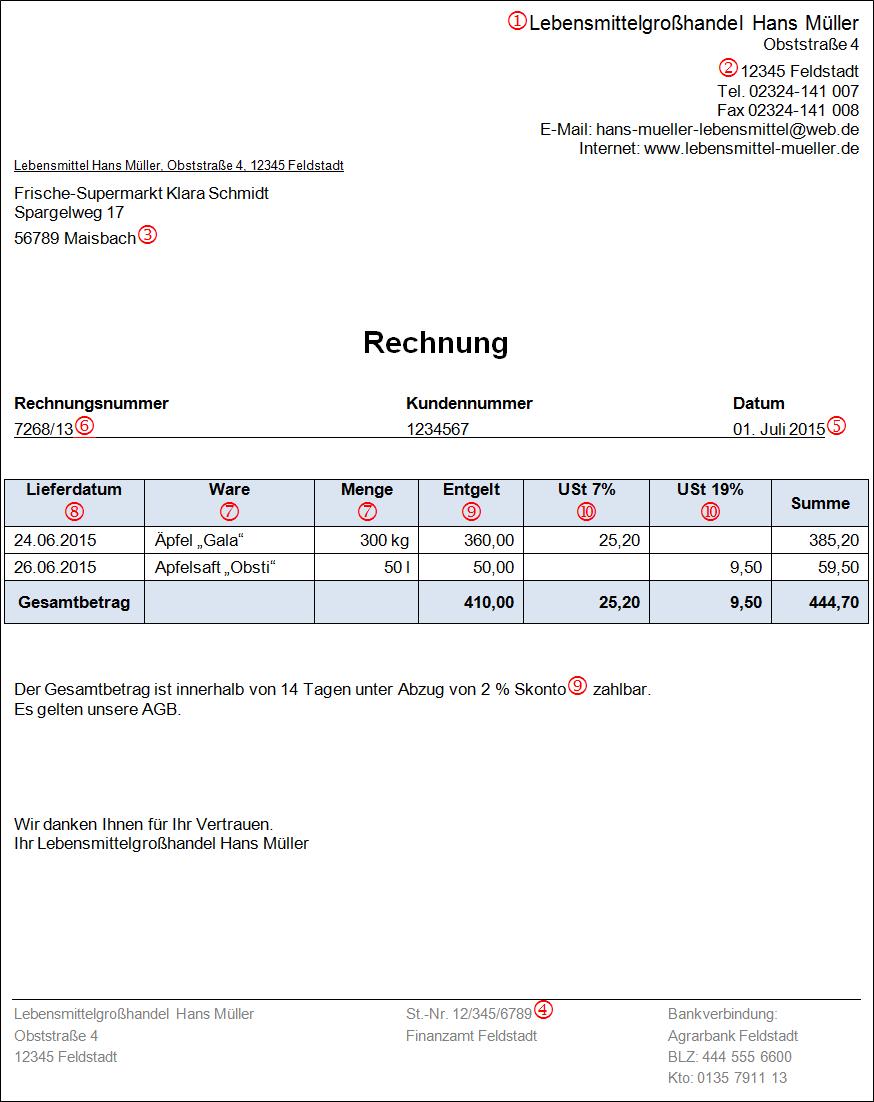 Rechnung Haushaltsnahe Dienstleistungen Muster : rechnungen das muss drin stehen buchhalterseele ~ Themetempest.com Abrechnung