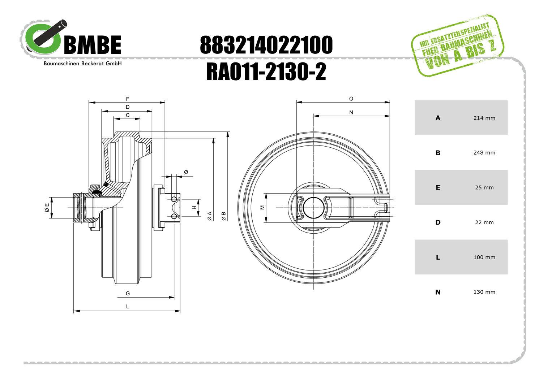 BMBE LFL-214x22 Leitrad kpl. REST EU_Lager