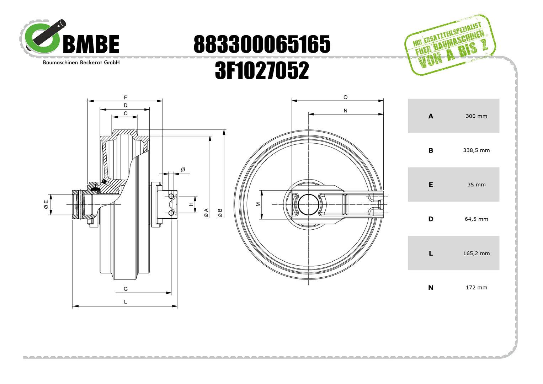 BMBE LFL-300x64,50 Leitrad kpl. EU_Lager