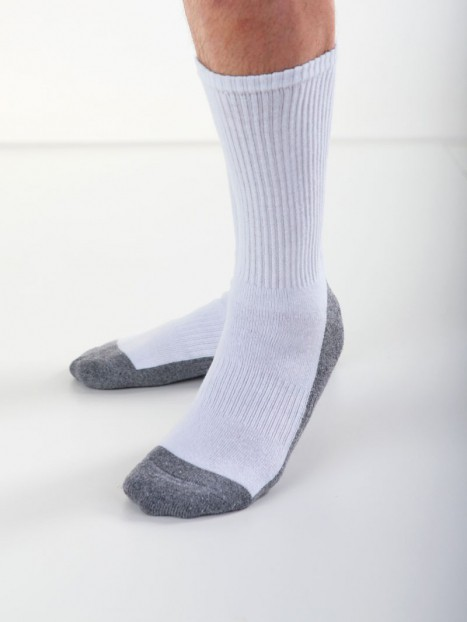 White Acrylic Mens Crew Socks
