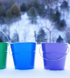Solid Color Decorative Pails  Bucket Outlet