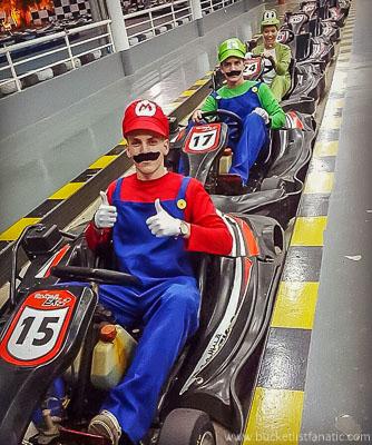 Mario Go Kart, Bucket List
