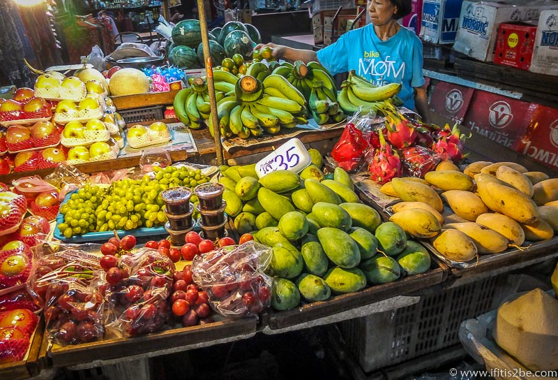 Fruit everywhere at the night market in Chiang Mai