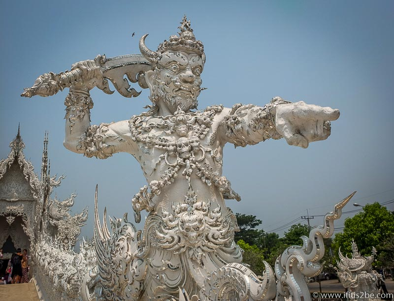 Sculpture at Wat Rong Khun (White Temple)