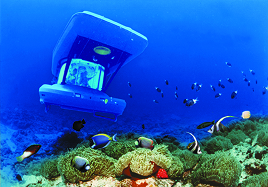 Underwater Submarine Lunch - Mauritius Bucket List