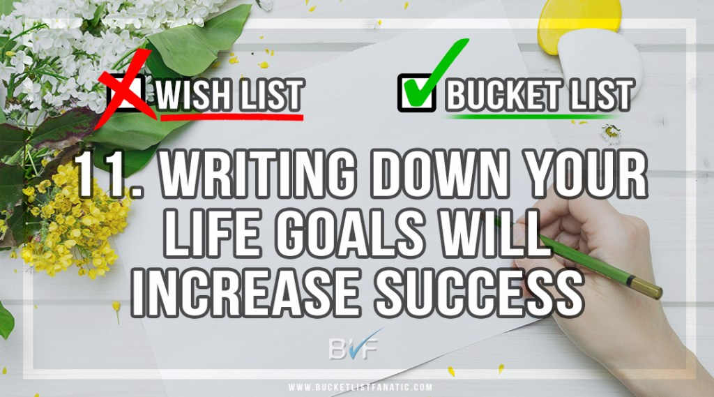 Drop the Christmas Wish List - Make Bucket List - Writing Down Goals Increases Success - by Bucket List Fanatic