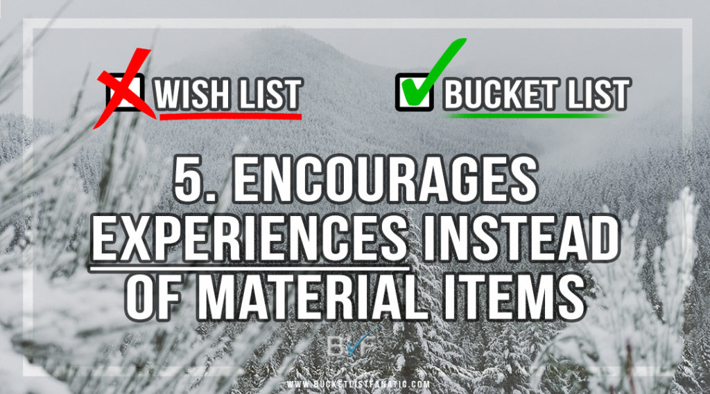 Drop the Christmas Wish List - Make Bucket List - Encourages Experiences - by Bucket List Fanatic