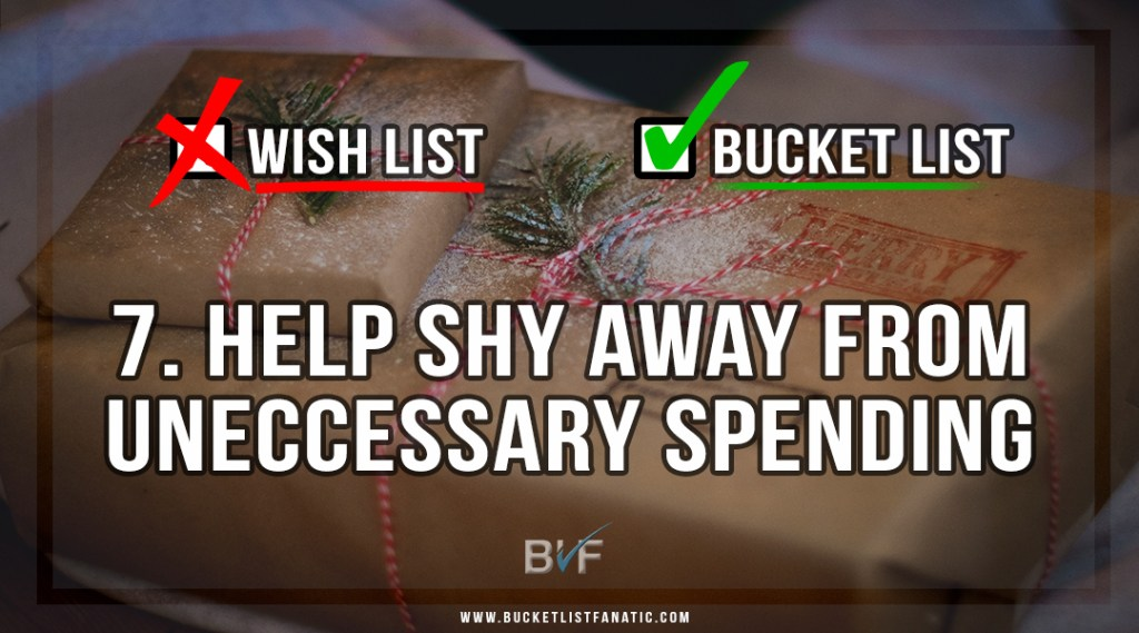 Drop the Christmas Wish List - Make Bucket List - Helps Shy Away From Uneccessary Spending - by Bucket List Fanatic