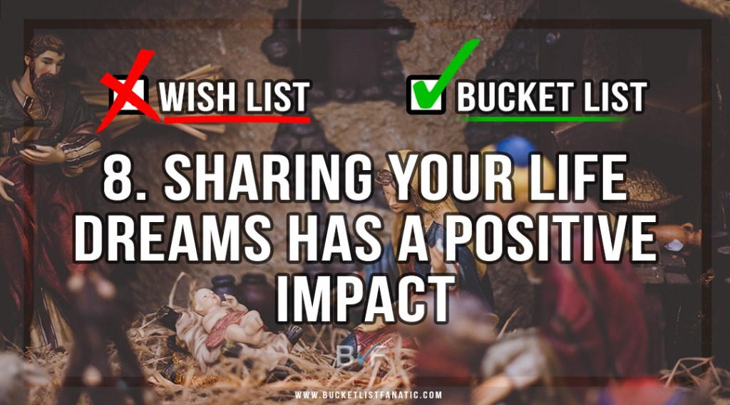 Drop the Christmas Wish List - Make Bucket List - Sharing Life Dreams Has Positive Impact - by Bucket List Fanatic