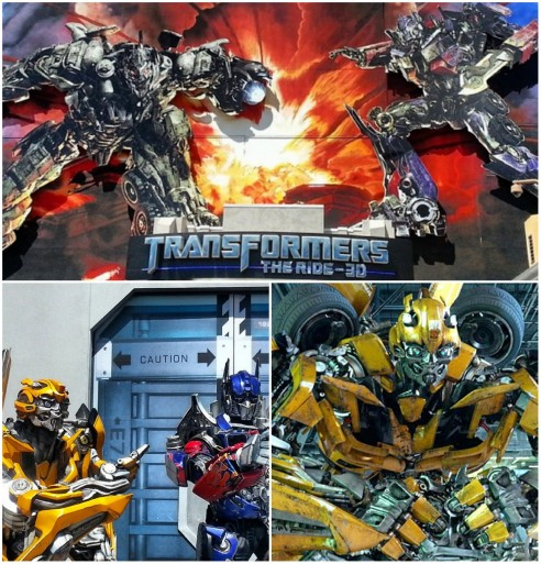 Transformers The Ride Collage