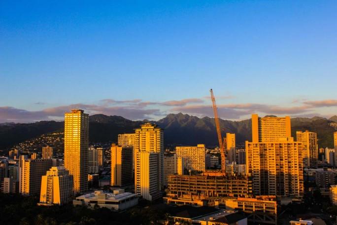 Honolulu view from Trump Waikiki
