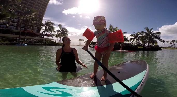 Paddle Boarding at the Hilton Hawaiian Lagoon