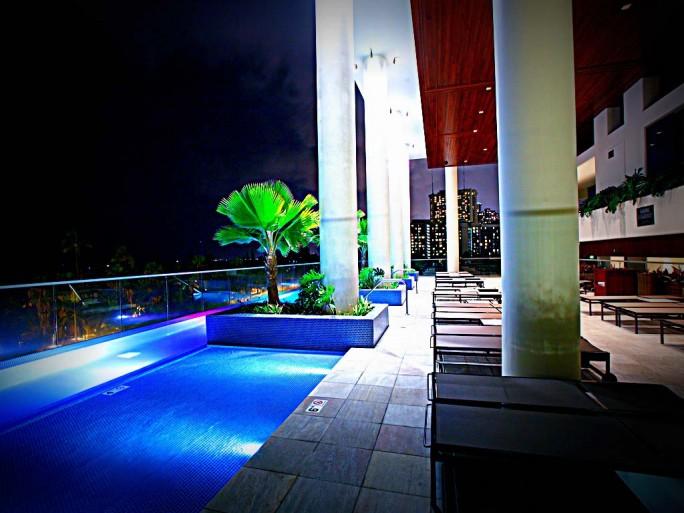 Trump Waikiki Pool at Night