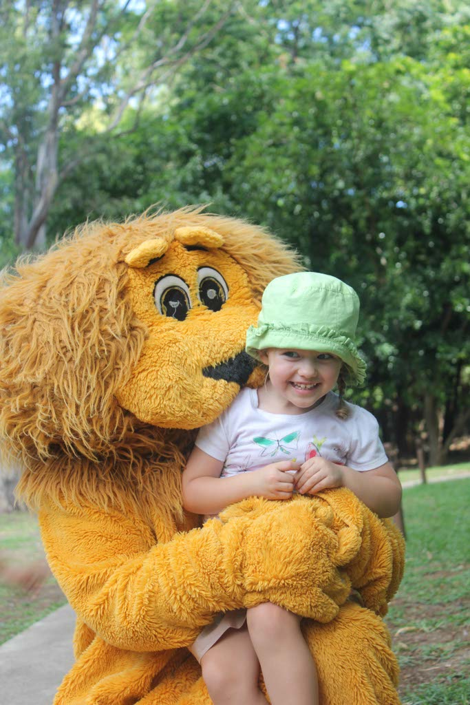 Interacting with a Lion at Casela