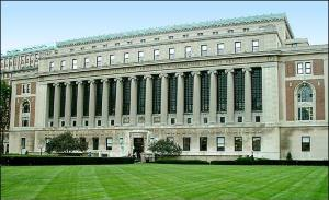 Butler Library at Columbia University in New York City.
