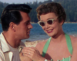 Rock Hudson and Jane Wyman in Magnificent Obsession.
