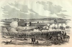 Harper's Weekly rendering of the Battle of Perryville.