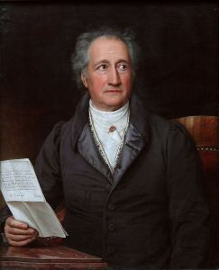 The great German writer Goethe was known as a practitioner of the novelle.