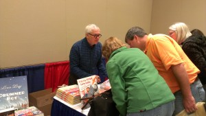 Marc Brown, famous for his beloved children's character Arthur, signs books at Books By The Banks.