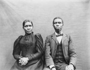 Matilda and Paul Dunbar. Matilda made every sacrifice she could to help her son succeed--a remarkable woman.