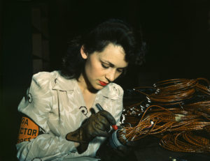 American defense industry worker during World War II.