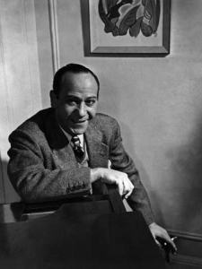 "Frank Loesser, composer of ""The Ballad of Rodger Young"" (Photo credit: Britannica)."