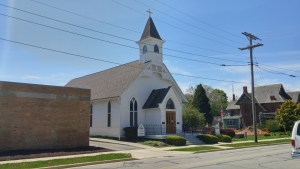 The former Grace Episcopal Church in Clyde is now home to the Clyde Preservation League's museum (author's photo).
