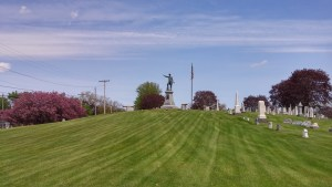 Part of the Clyde Cemetery with General McPherson's statue in the background, a sight that was familiar to Anderson (author's photo).