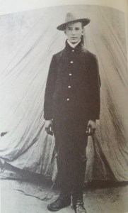 Sherwood Anderson as a soldier during the Spanish-American War.