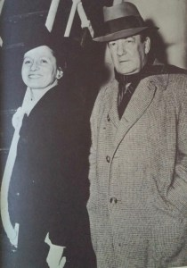"""Sherwood Anderson with his fourth wife, Eleanor Copenhaver, on February 28, 1941. Photo from """"Sherwood Anderson's Memoirs"""" edited by Ray Lewis White. One of the last photos of Sherwood Anderson. Original in Newberry Library."""