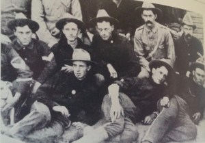 Stack young troopers. Sherwood Anderson is second from the right in the front row alongside other members of Company I of the Ohio National Guard during the Spanish-American War.