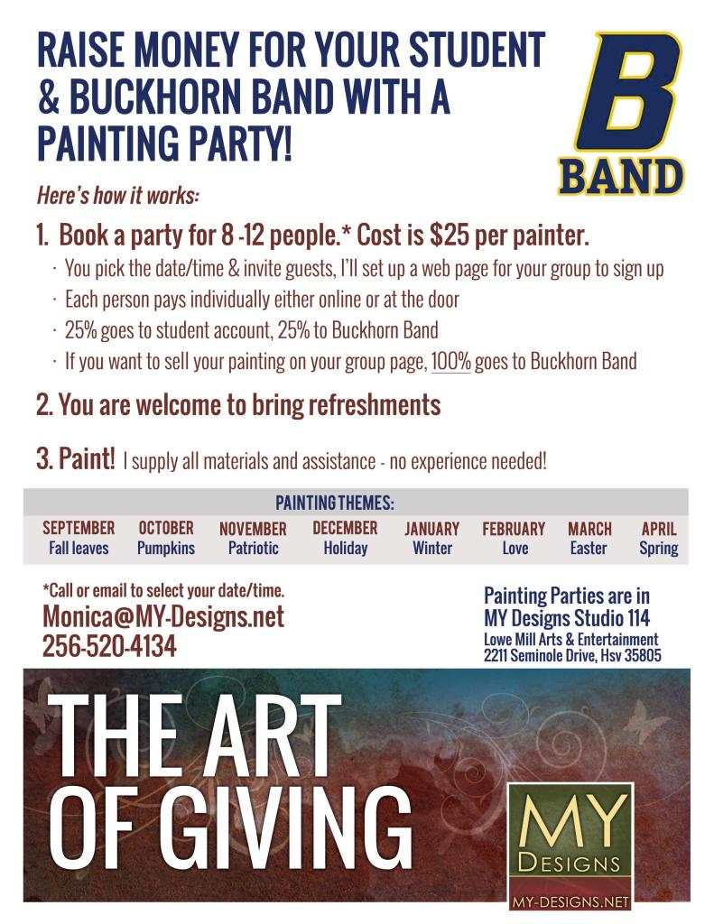 BHB My Designs Painting Fundraiser